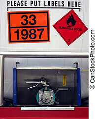 Flammable Liquid - Transport of dangerous material
