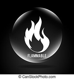 flammable signal design, vector illustration eps10 graphic