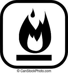 Flammable Symbol Vector