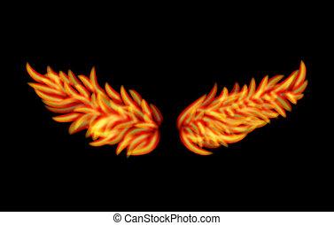 flamme, ailes