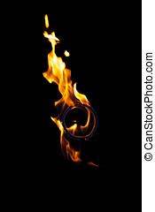 flamme, brûlé