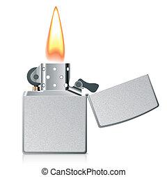 flamme, briquet