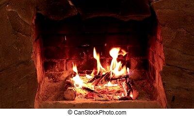 flamme, cheminée