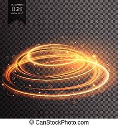 flamme, effet, lentille, luisant allumer, scintillements, transparent