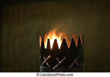 flamme, gobelet
