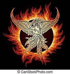 flamme, phoenix
