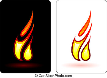 feuer flamme design elemets vektoren suche clipart. Black Bedroom Furniture Sets. Home Design Ideas