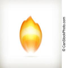 flamme, vecteur, icône