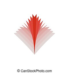 flammes, brûler, résumé, signe, emblem., logo., rouges
