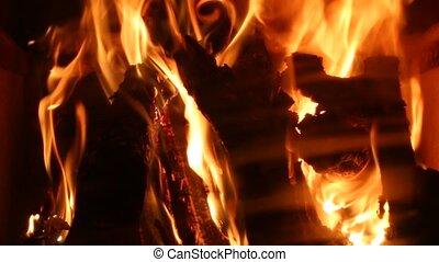 flammes, de, une, openfire