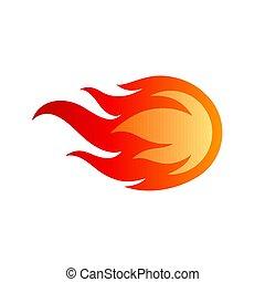 flammes, logo
