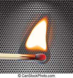 Flamming match vector illustration