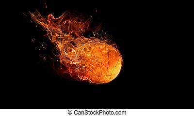 flamy, 상징, 검정, 밝은, 배경