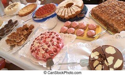 Flan and cake