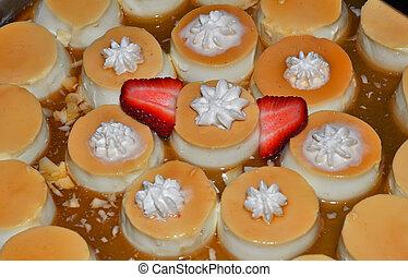 Creamy flan custard with caramel sauce