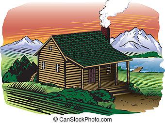flanc montagne, cabine