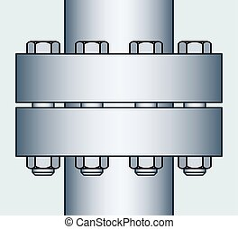 Flange connection - Illustration of the flange connection