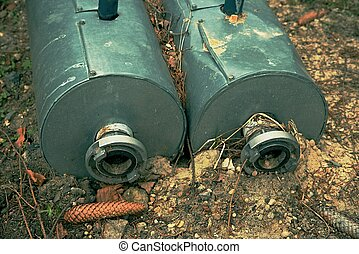 flanged, therm, parafusos, isolamento, canos, metal, nut., flanges