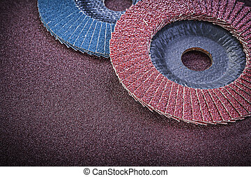 Flap grinding wheels on polishing paper abrasive materials