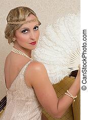 Flapper dress and headband