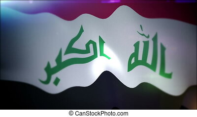 """Flapping Banner of Iraq in Slow Motion"" - ""Wonderful 3d..."