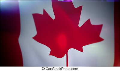 """""""Flapping Canadian Banner in Black Backdrop"""" - """"Energetic 3d..."""