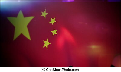 """Flapping Chinese Flag in Slow Motion"" - ""Artistic slow..."
