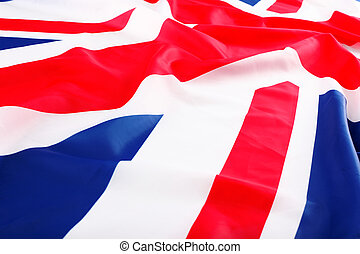 flapping flag of UK with wave