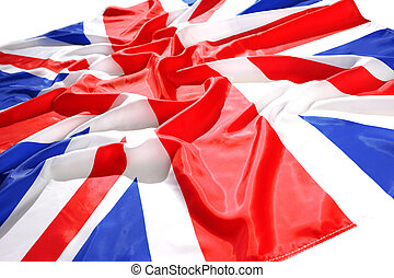 flapping flag UK with wave