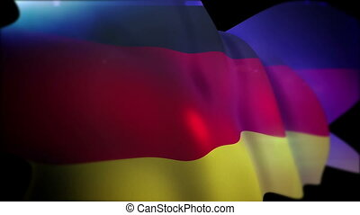 """""""Flapping German Banner in Black Backdrop"""" - """"Reliable 3d ..."""