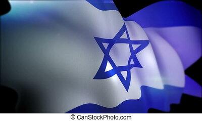 """flapping, lent, drapeau, israël, motion"""