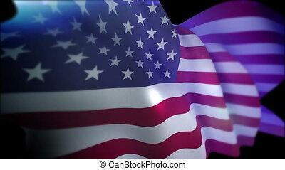 """""""flappping, bandera, powolny, usa, motion"""""""