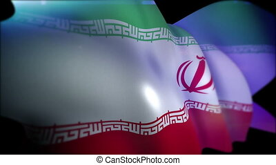 """Flappping Flag of Iran in Slow Motion"" - ""Exciting 3d..."