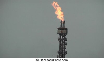 Natural Gas - Flare at a Natural Gas plant