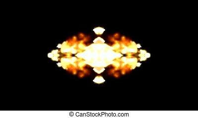 flare fire fancy background
