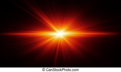 Flare - Moving and pulsating light emitting particles.