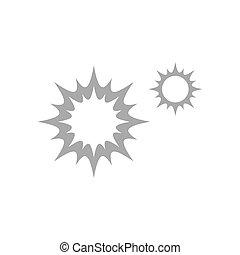Flare icon in flat design template
