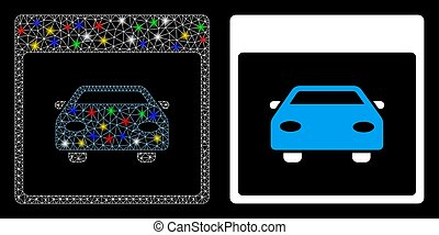 Flare Mesh Carcass Automobile Car Calendar Page Icon with Flare Spots