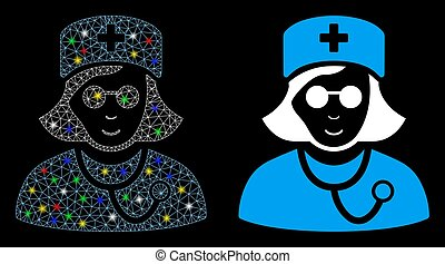Flare Mesh Carcass Blind Nurse Icon with Flare Spots - Flare...