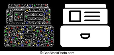 Flare Mesh Carcass Card Index Icon with Flare Spots - ...