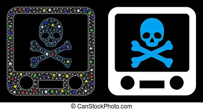 Flare Mesh Carcass Xray Screening Icon with Flare Spots