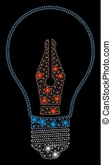 Flare Mesh Wire Frame News Maker Bulb with Flare Spots - ...