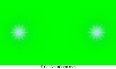 Flare wipe transition R46 - Flare Wipe transition on green...