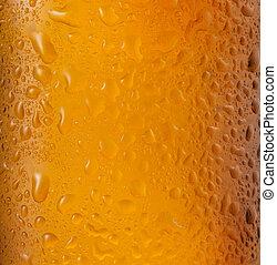 flasche bier, als, hintergrund