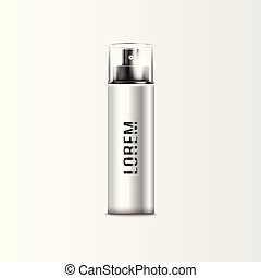 flasche, grau, sprühen, silber, düse, kappe, glas, parfüm