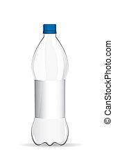 flasche, plastik