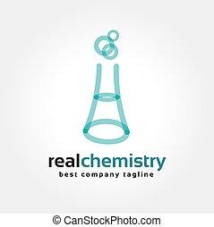 flaschen, brandmarken, abstrakt, logotype, vektor, schablone, logo, chemie, concept., ikone