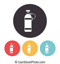 flaschen, sauerstoff, ikone