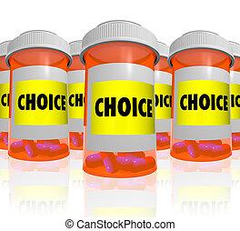 flaschen, viele, -, wahlmöglichkeit, wählen, verordnung