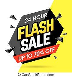 flash, bannière, vente
